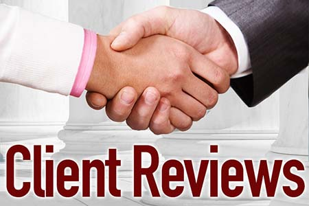 Personal Injury Client Reviews